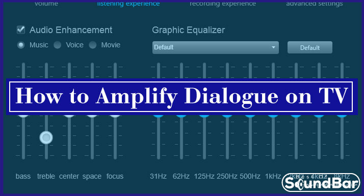 How to Amplify Dialogue on TV